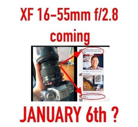 FUJINON XF 16-55mm f/2.8 WR to be announced on January 6th (anonymous source) | Fuji Rumors | Fujifilm X Series APS C sensor camera | Scoop.it