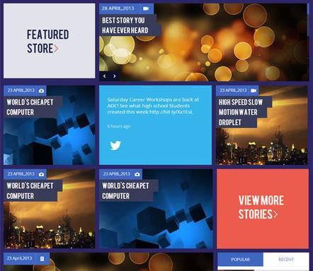 Blog Magazine Flat Responsive web Mobile UI Kit | camoranns | Scoop.it