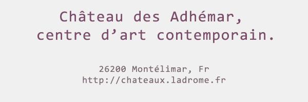 Château départemental des Adhémar - centre d'art contemporain