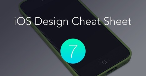 The iOS 7 Design Cheat Sheet | Visual Brunch | Scoop.it