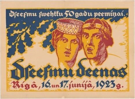 Dziesmusvētku plakāti (LV)   Presentazione di Niklavs Strunke   Scoop.it