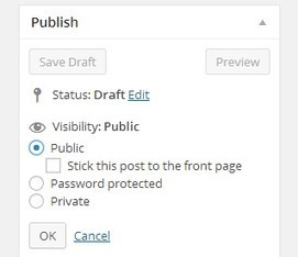 How to Stick a post to the front page in WordPress | WordPress and Web Design | Scoop.it