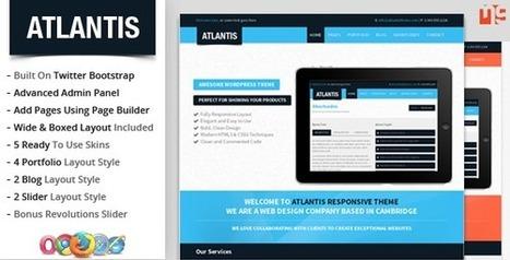 Atlantis Bootstrap Multipurpose WordPress Theme - WordpressThemeDB | Discounts around the world | Scoop.it