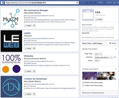 Comment mieux connaitre vos Fans avec le Graph Search Facebook | Améliorer son image sur le web | Scoop.it