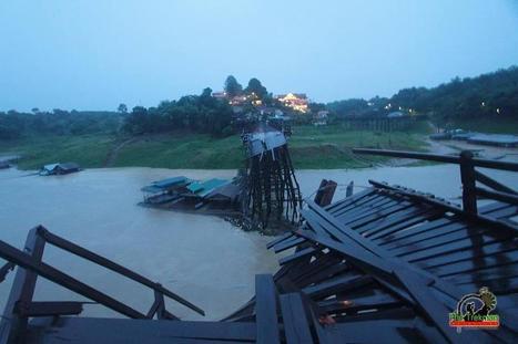 Le pont Mon de Sangkhlaburi s'est effondré - Blog Thaïlande - Voyage   Le pont Mon de Sangkhlaburi s'est effondré   Scoop.it