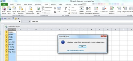 A Few Excel Tips to Get You Through the Workday | PPC Associates Blog | Excel For SEO | Scoop.it