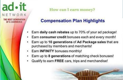 ADITnetwork COMPENSATION PLAN   Passive Income Start Up Opportunities   Scoop.it