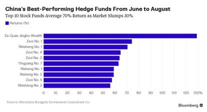 As China's Stock Market Crashed, These Hedge Funds Rose 70% - Bloomberg | stock market | Scoop.it