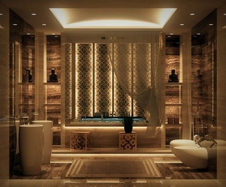 Luxurious Bathrooms with Stunning Design Details | Création d'espace : mobilier et accessoire de déco design par Dream in design | Scoop.it