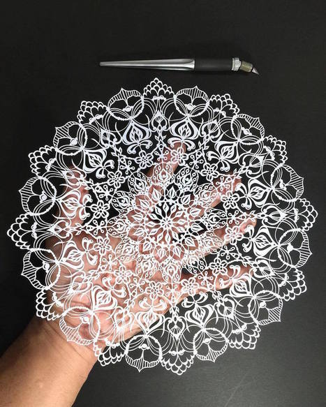 #Hand-Cut #Mandalas and Other #Intricate #Paper Works by Mr. Riu. #art #pattern | Luby Art | Scoop.it