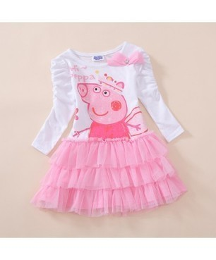 Pepper Pig Lovely Long Sleeve Baby Cake Dress | Clothing at SMA-STAR | Scoop.it