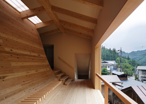 Kubo Tsushima creates curved interior inside bathhouse | Desife | Scoop.it