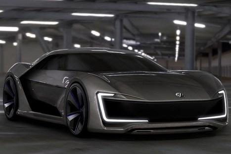Volkswagen GT GE. Une sportive électrique imaginée par un étudiant | Voitures anciennes - Classic cars - Concept cars | Scoop.it