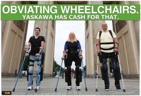 Japanese Robots: Argo's ReWalk Exoskeleton Gets a Pile of Yaskawa Robot Money | Exoskeleton Systems | Scoop.it
