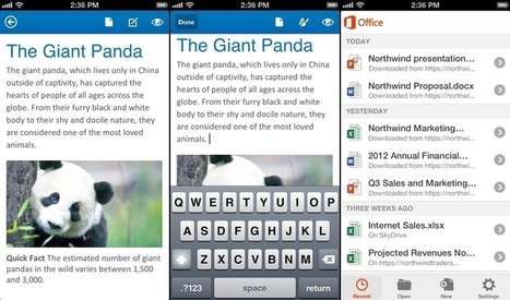 Microsoft Office on iOS available for free, but requires a subscription to use | Microsoft | Geek.com | The Administration Collection | Scoop.it