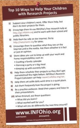 Parents: 10 Ways to Help Your Children with Research Projects | 21st Century Literacy and Learning | Scoop.it