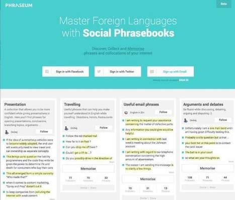 Phraseum, inteligente sistema gratuito de aprendizaje de idiomas, lanza nueva versión | Aprendiendoaenseñar | Scoop.it