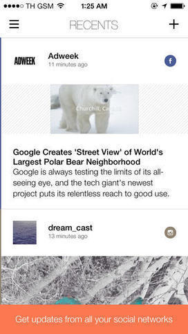Recents Lets You See The Most Recent Updates From Your Social Feeds In ... - AppAdvice | Social Networking for small business | Scoop.it