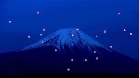 Mt. Fuji Becomes Backdrop for Choreographed Drone 'Dance' | Media Aesthetics Lab | Scoop.it