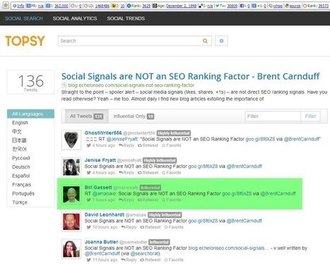 Social Signals are NOT an SEO Ranking Factor   Les Enjeux du Web Marketing   Scoop.it