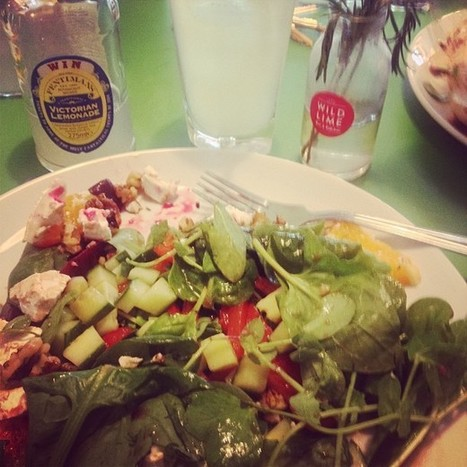 Lunch at #wildlimebar in portswood! #yummy #salad #leaves #cucumber #orange #peppers #walnuts #goatscheese #victorianlemonade #food #drink | Wild Lime Bar | Scoop.it