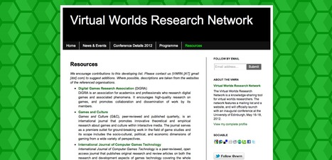 Virtual Worlds Research Network: Resources | Teaching & Learning Resources | Scoop.it
