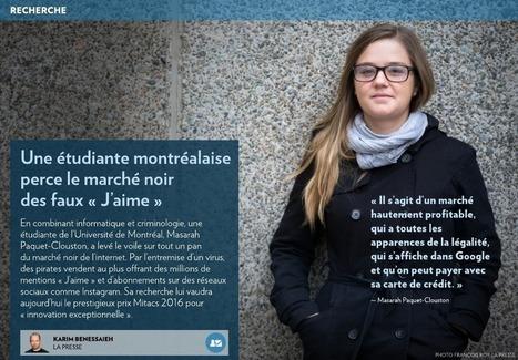 Une étudiante montréalaise se distingue - La Presse+ | * LE MIAM MIAM BLOG * et les réseaux sociaux | Scoop.it