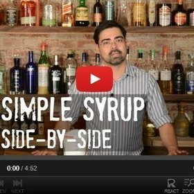 Simple Syrup, Side-by-Side - A Bar Above Mixology | mixology | Scoop.it
