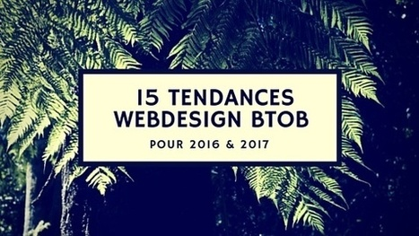 15 tendances webdesign BtoB pour 2016 et 2017 | Webdesign | Scoop.it