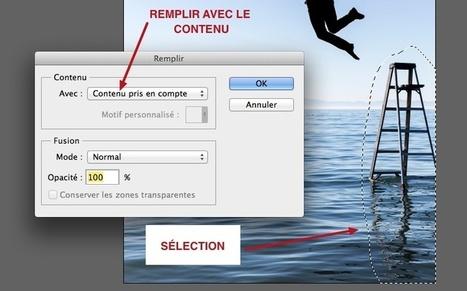 Photoshop :: Utiliser l'option remplir pour supprimer une zone de l'image | Time to Learn | Scoop.it