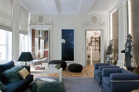 NOIR BLANC un style: A Paris un appartement grandiose photographié par Stephen clément. | Ma décoration d'intérieur | Scoop.it