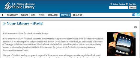 Une bibliothèque publique du Wisconsin loue des iPad en plus des publications papier | Art contemporain et culture | Scoop.it