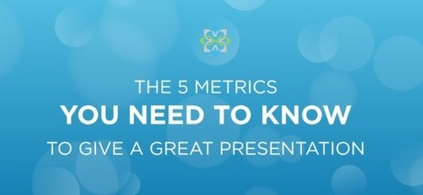 The 5 Metrics You Need to Know to Give a Great Presentation | Information Technology Learn IT - Teach IT | Scoop.it