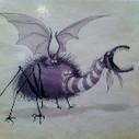 Un dessin de Tim Burton pour Taram et le chaudron magique quand il travaillait pour les studios Disney #expoBurton | dessin | Scoop.it