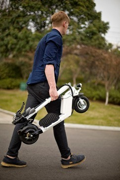 Riding Airwheel Z5 Intelligent Electric Scooters for Adults to Get Rid of Loneliness   Press Release   Scoop.it