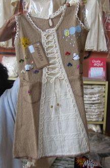 Weiss, braunes Kinder Kleid, ökologische Pima Baumwolle | Produkte aus Peru | Scoop.it
