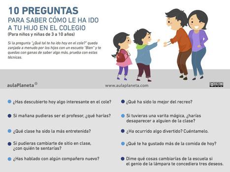 10 preguntas para saber cómo le ha ido a tu hijo en el colegio #infogafia #education | infografiando | Scoop.it