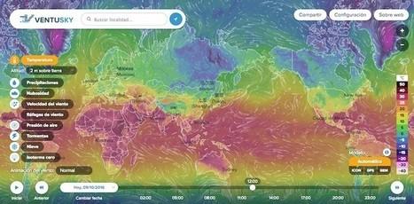 Dos completos mapas para ver la evolución del tiempo, viento y nubes de forma interactiva | Recursos educativos para Bachillerato, Geografía e Historia | Scoop.it