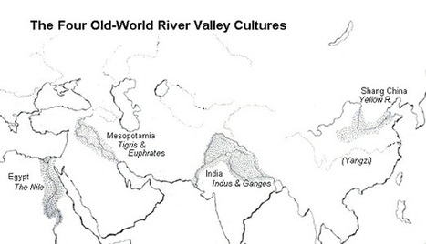 Old-World River Valley Map | Year 7 History: River Civilisations in Ancient India | Scoop.it