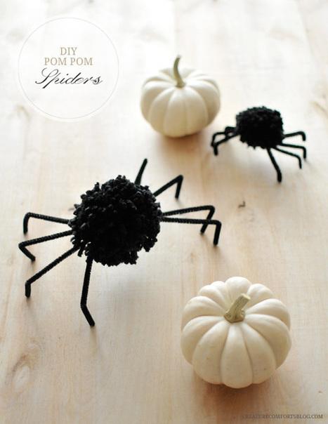 DIY Les araignées toutes douces pour Halloween | Fiestas & Fêtes pour les petits | Scoop.it