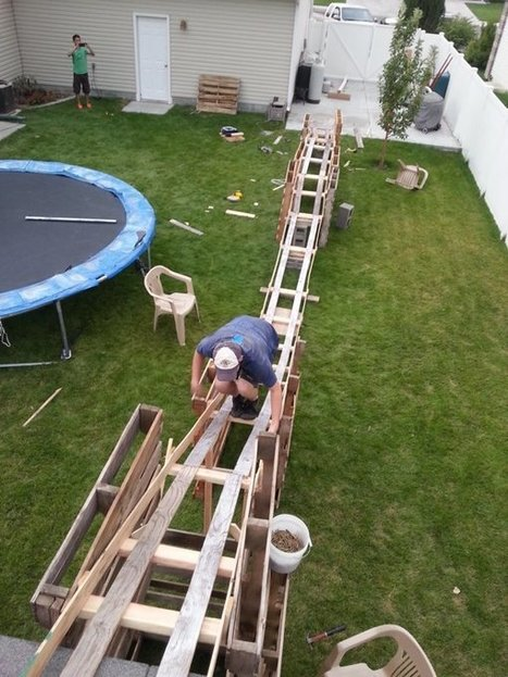 Teen Boys Build 50-Foot-Long Backyard Roller Coaster For $50 | Young Makers | Scoop.it