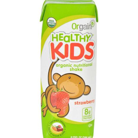 Orgain Organic Nutrition Shake - Strawberry Kids - 8.25 fl oz - Case of 12 An Organic Product | homeschooling | Scoop.it
