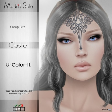 Caste Forehead Tattoo May 2015 Group Gift by Madrid Solo | Teleport Hub - Second Life Freebies | Second Life Freebies | Scoop.it