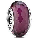 PANDORA Murano Glass Fascinating Purple Charm with Sterling Core 791071 [PZ347] - $5.00 | Cute Pandora Charms on bracelet-bead.com | Scoop.it