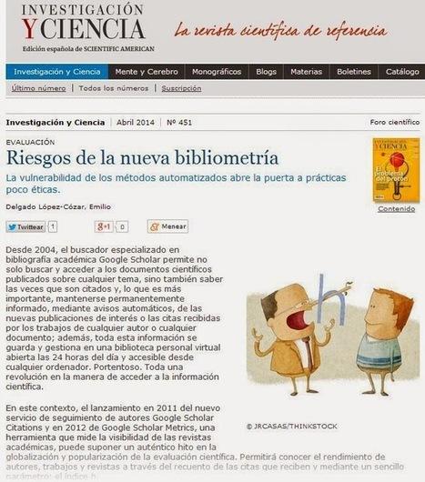 EC3noticias: La nueva bibliometría: nuevos horizontes, nuevas oportunidades, nuevos peligros. Vino viejo en odre nuevo   EC3   Scoop.it