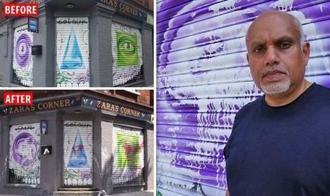 Muslim youths vandalise east London office after claiming artwork depicts the ANTI-CHRIST!   Street Art   Scoop.it