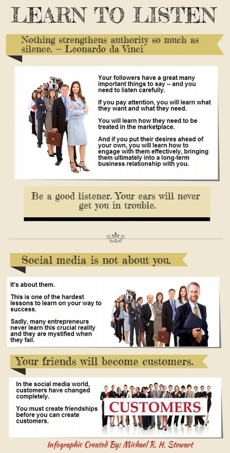 Learn to Listen (Infographic) : Jericho Technology, Inc.   Social Media   Scoop.it