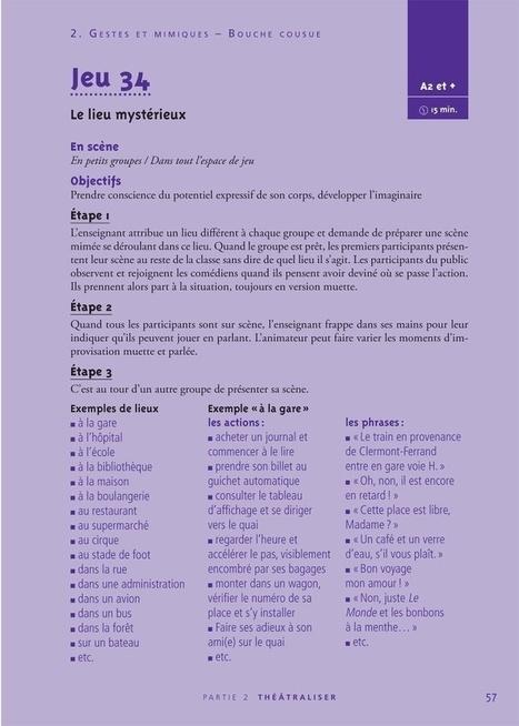 Activités théâtre - improvisation | Théâtre, jeux dramatiques et improvisations au primaire | Scoop.it