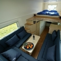Compact Home Inside a Garbage Truck | Garden Buildings For Work, Rest & Play | Scoop.it