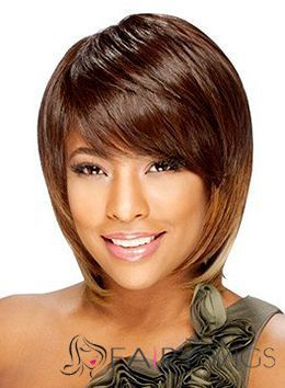 Vogue Wig Short Straight Brown Full Bang African American Wigs for Women 10 Inch : fairywigs.com | African American Wigs | Scoop.it